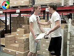 Two warehouse employee are getting bored and decide to fuck!